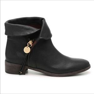 {See by Chloe} Masha Black Leather Bootie Size 38